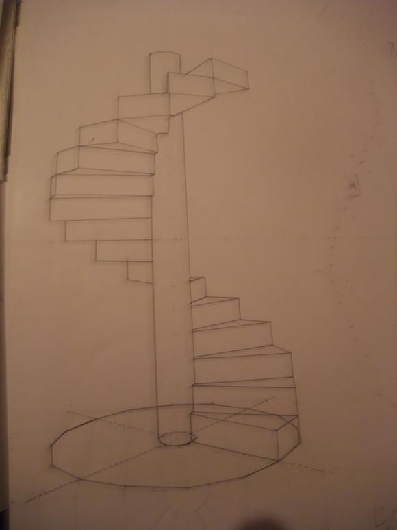 escalier en colimacon construction
